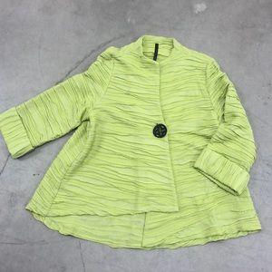 IC by Connie K Green Ruffled Coat
